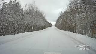 28.2.20. Просто зимняя дорога.Красивая природа.