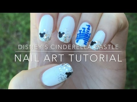 - Disney's Cinderella Castle Nail Art Tutorial - YouTube