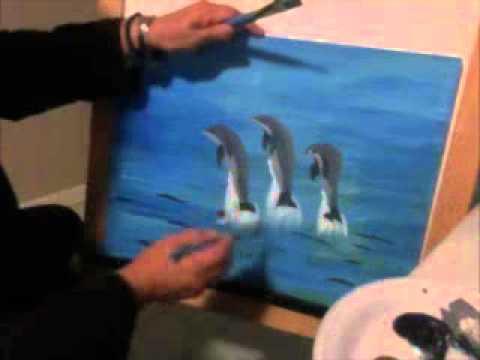 como pintar delfines facilito artemania por artemaria  YouTube