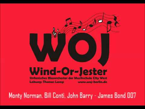 James Bond 007 Filmmusik (Monty Norman, Bill Conti, John Barry; arr. Johan de Meij)