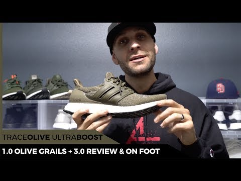 trace-olive-ultra-boost-release,-review-and-on-foot-look