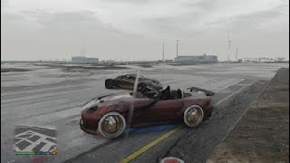Grand Theft Auto V drag racing i cheated lol
