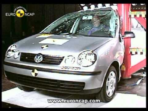 euro ncap vw polo 2002 crash test youtube. Black Bedroom Furniture Sets. Home Design Ideas