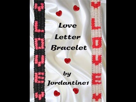 New Love Letter Bracelet - Monster Tail or Rainbow Loom - Valentine's Day