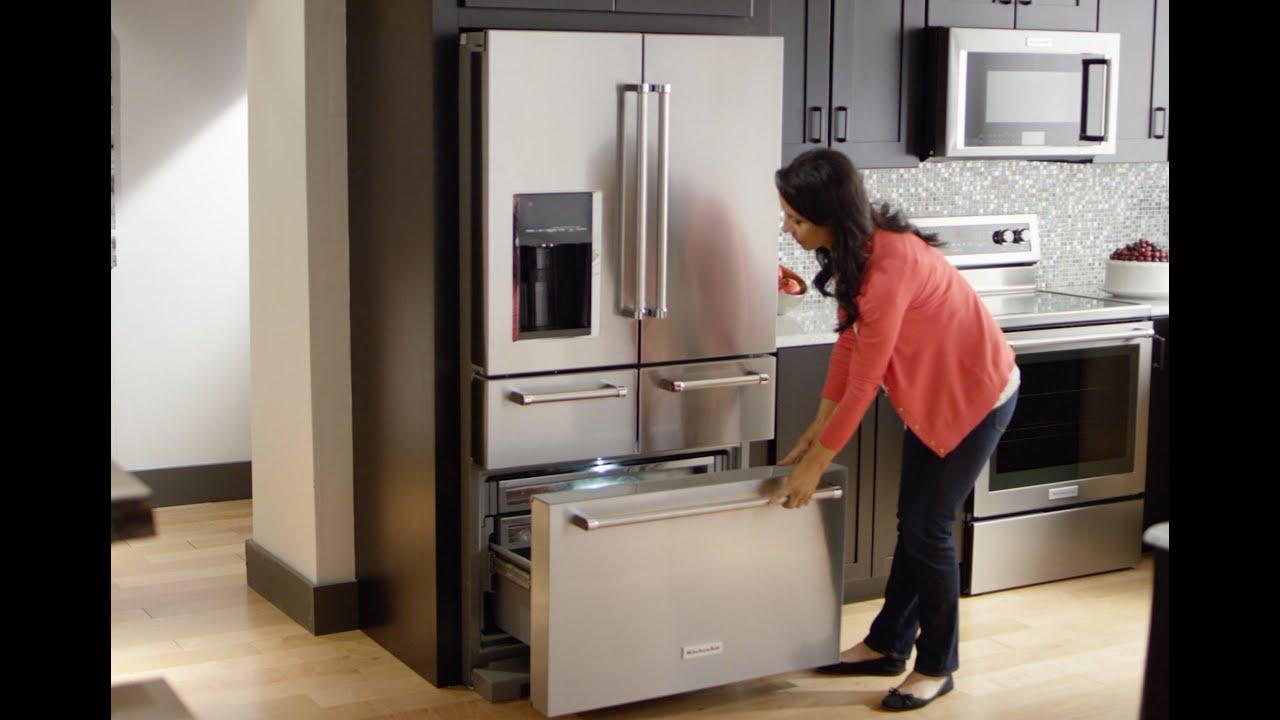 Kitchenaid Refrigerator kitchenaid® 5-door refrigerator - youtube