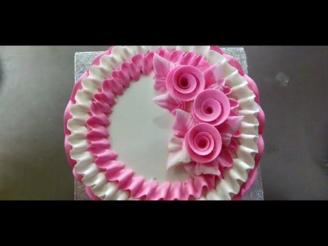 How to make a buttercream cake decoration | maruthi online food |