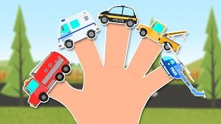 Emergency Vehicles Finger Family   40 mins non stop compilation for kids