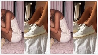 Kylie Jenner & Kendall Jenner Show Off New Yeezys In Skimpy, Sexy Outfits — Who Is