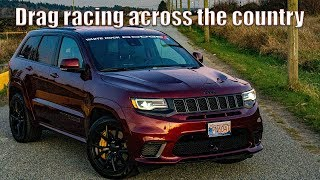 Drag Racing our Jeep Grand Cherokee Trackhawk in Ontario!