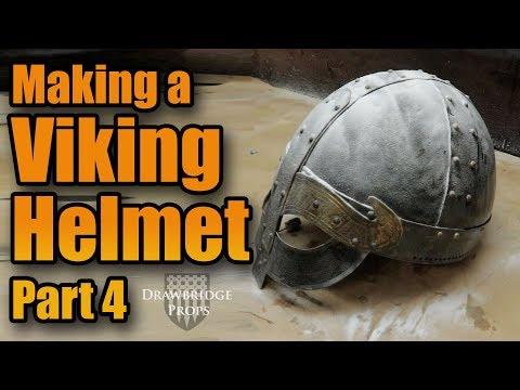 How to make Armor - MAKING A FULL STEEL VIKING HELMET!!! Part 4