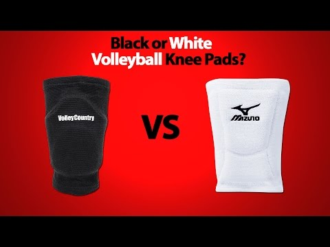 Black or White Volleyball Knee Pads?
