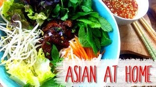 Salad Recipe : Vietnamese Noodle Salad W/coconut Lemongrass Bbq Pork(bun Thit Nuong) : Asian At Home