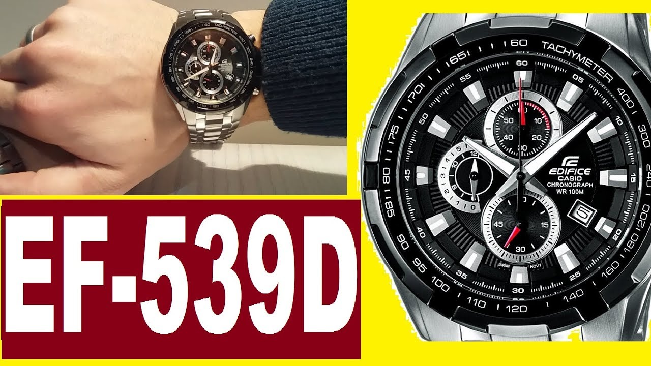 8782534093fd Casio Edifice EF-539D-1A 5118 manual - YouTube
