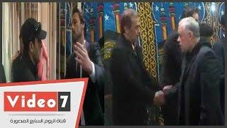 بالفيديو..فاروق الفيشاوى وسمير صبرى والسقا وذكى فى عزاء الفنانة فيروز