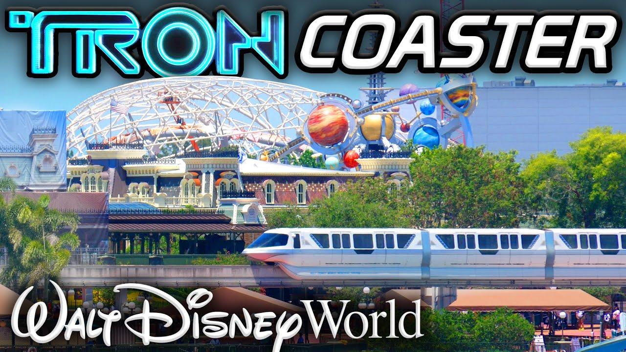 TRON Coaster Work FINALLY RAMPS UP at Walt Disney World! - June 2021 Construction Update