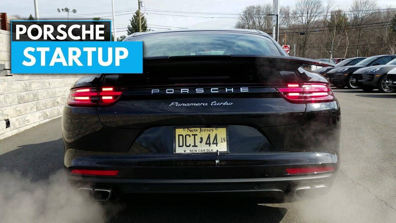 2017 porsche panamera turbo startup exhaust engine sound youtube