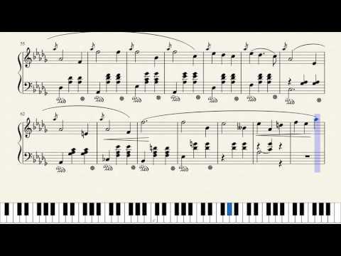 "Chopin, Waltz Opus 64, No. 1 in D Flat Major ""Minute Waltz"" [Piano Tutorial + Sheets]"