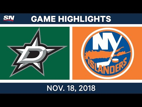 NHL Highlights | Stars vs. Islanders – Nov. 18, 2018