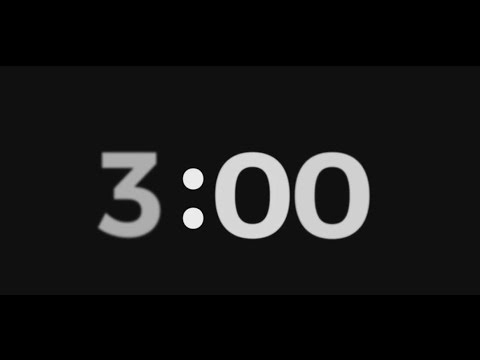 timer for 3 mins 3slufsluidsprekers