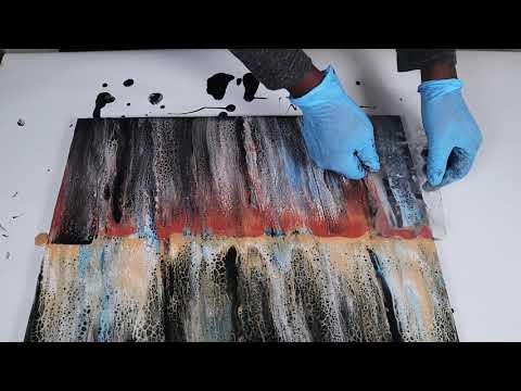 Acrylic Pouring - Swipe Technique