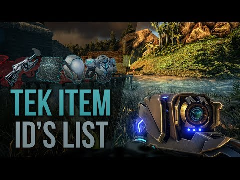 ARK TEK TIER ID's - ARK ITEM IDs LIST FOR ADMINS - HOW TO SPAWN TEK TIER XBOX / PS4 / PC