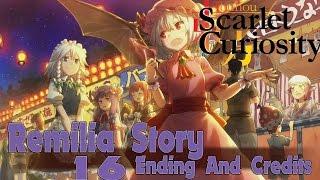 Touhou Scarlet Curiosity Walkthrough Gameplay Part 16- English - PS4 Remilia Story - Ending