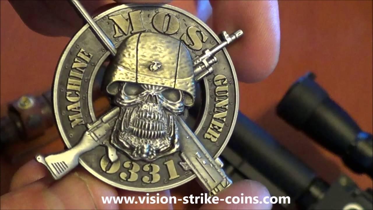 USMC MOS 0331 Machine Gunner Coin - YouTube