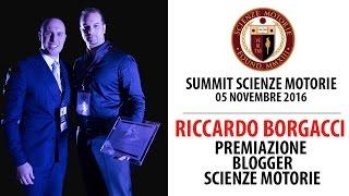 Estratto Summit: Premiazione RICCARDO BORGACCI Blogger Scienze Motorie