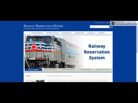 online railway reservation project The railway reservation is very best way to excecute between usthe railway provide this facility the the journey become easy because the we can book or reservetion of ticket online with help of internet it is reduce the physical and mental stress go to station standing line for booking ticket b.