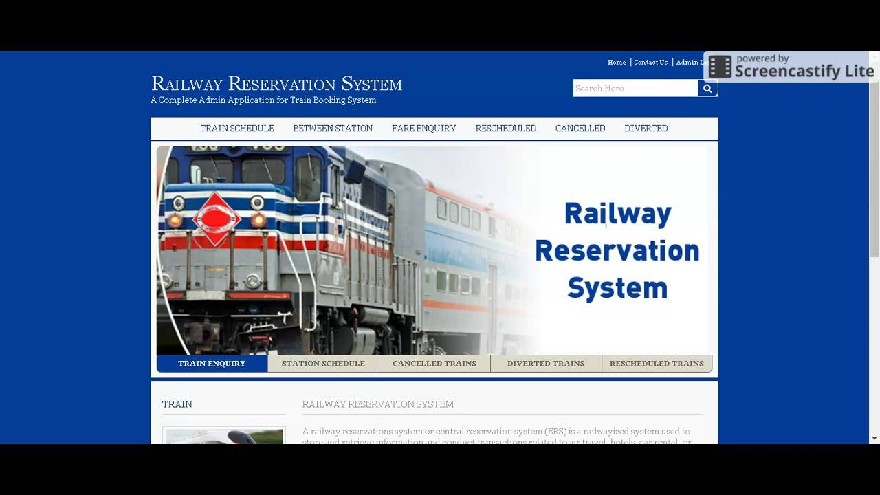 Java And Jsp Project On Railway Reservation System Youtube