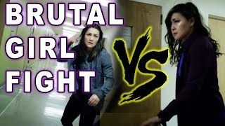 BRUTAL Girl FIGHT : Asian GIRL Beats Up Russian Girl : Pei Vs Zhanna