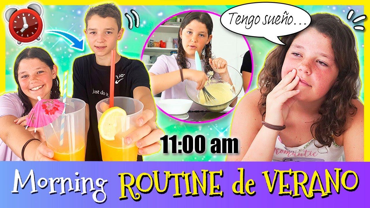 El MORNING ROUTINE de VERANO de DANIELA HAACK 💦 Os enseñamos nuestra RUTINA DE MAÑANA