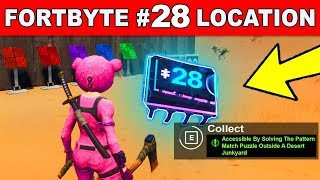 FORTBYTE #28 - Accessible By Solving The Pattern Match Puzzle Outside A Desert Junkyard Fortnite