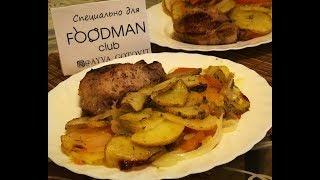 Запечённый картофель с луком и помидорами: рецепт от Foodman.club