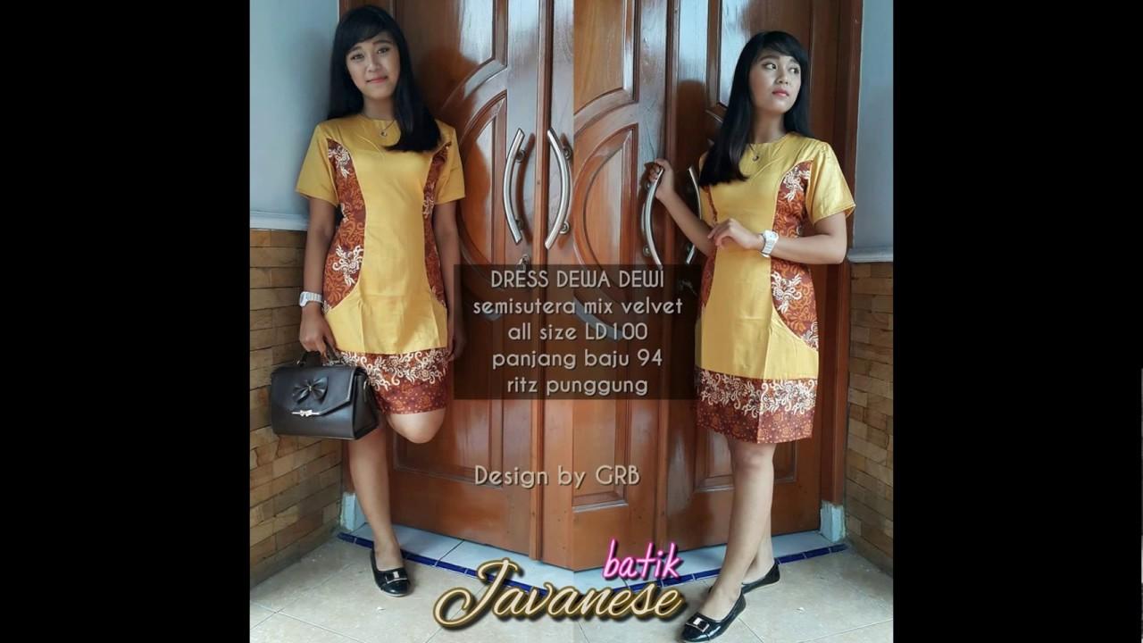 0817 0666 635 Xl Dress Batik Modern Dress Batik