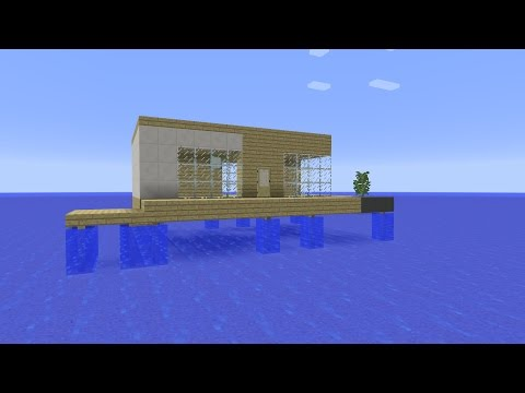 Minecraft - How to build a floating vacation house