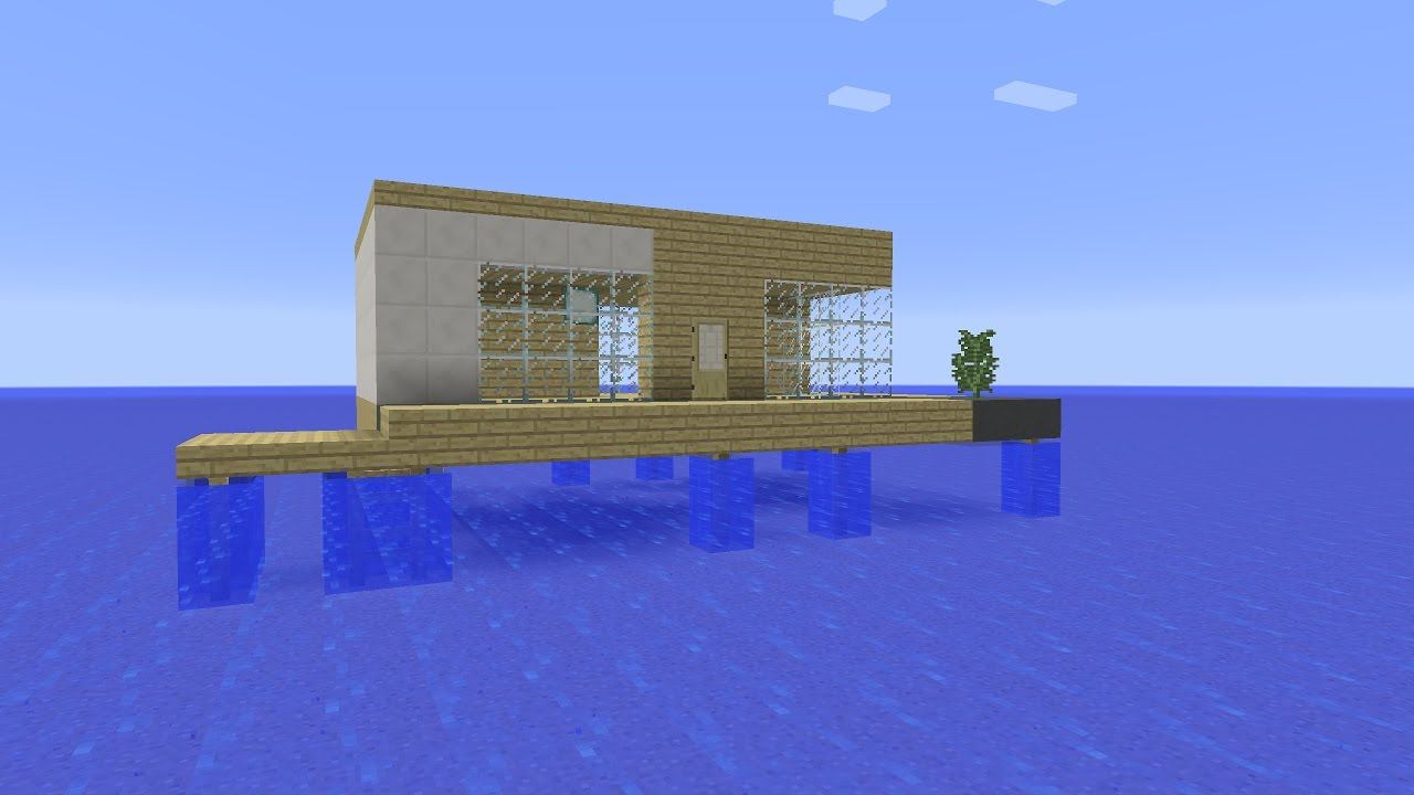 Minecraft How To Build A Floating Vacation House Youtube