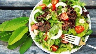 Салат из кальмаров с сухариками / CALAMARI SALAD recipe