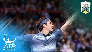 Bizarre net cord no problem for Roger Federer vs Juan Martin del Potro | Paris Masters 2013