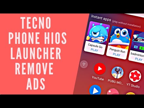 Tecno Phone Hios  Launcher Remove Ads    How To Remove Instant Apps From Tecno
