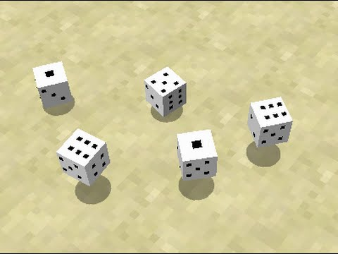 Dice in Minecraft