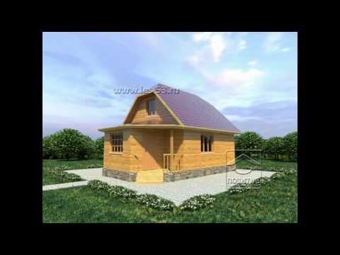 Проекты домов из бруса под ключ - СК Позитив