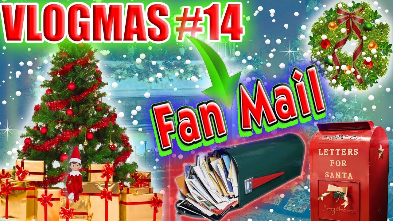 CHRISTMAS CARDS FAN MAIL! VLOGMAS DAY 14! - YouTube