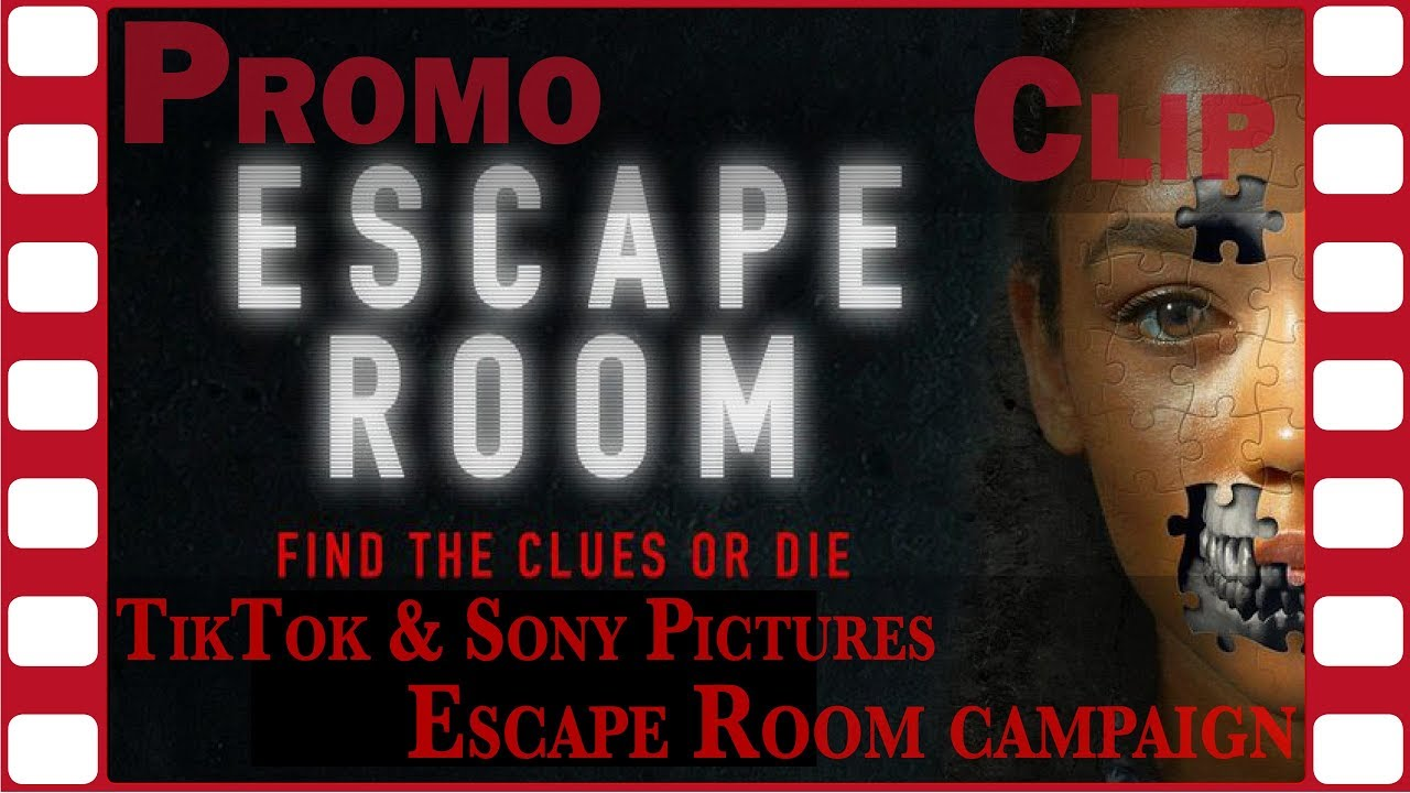 TikTok, Sony Pictures Entertainment promotional campaign video for ESCAPE ROOM