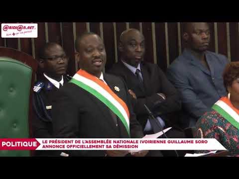 """Guillaume Soro, pdt de l'Assemblée Nationale : """"J'ai décidé de sacrifier mon poste pour la paix"""""""