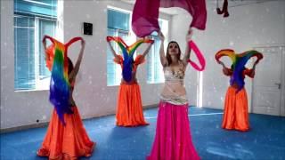 Восточные танцы Видео урок 3 Работа с  шалью