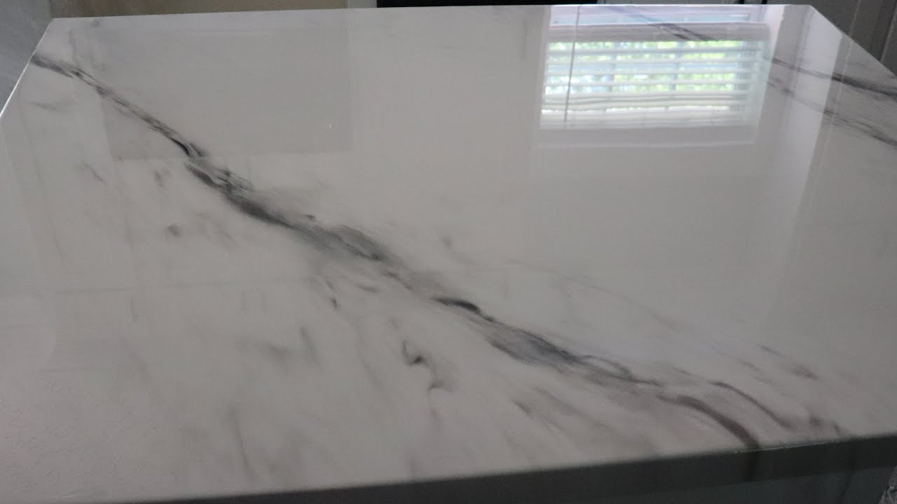 DIY Stone Coat Countertops Epoxy Resin Transformation Marble Look |  Tanusha's DIY Home Projects
