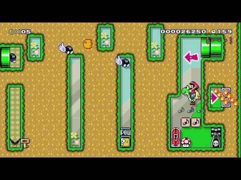ヨッシーといっしょに進んで行こう! Thanks Yoshi! by こうすけ - Super Mario Maker - No Commentary