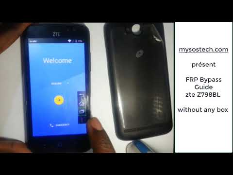 Remove Google Account Frp From Zte Z828 100 2018