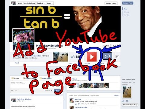 Add any Youtube or Twitter Channel as a Tab to Facebook Page